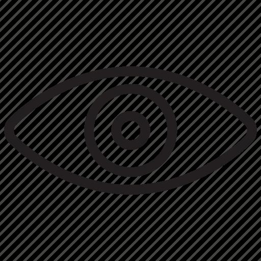 eye, view, visibility icon