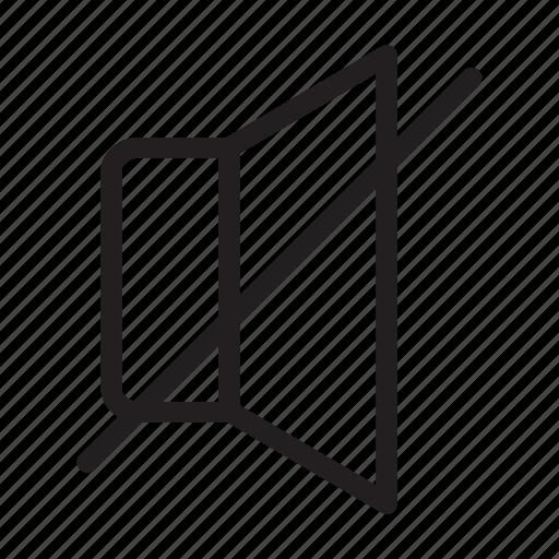 mute, sound, volumeoff icon