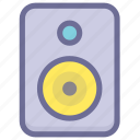 media, multimedia, music, sound, speaker icon