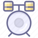 drums, media, multimedia, musical instrument icon