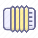 accordion, media, multimedia, musical instrument icon