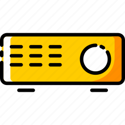 device, electronic, multimedia, projector icon