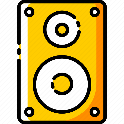 device, electronic, multimedia, music, sound, speaker, woofer icon