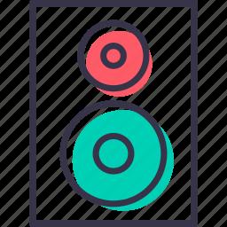 device, dj, multimedia, music, play, sound, speaker icon