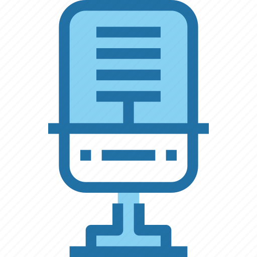 media, mic, music, office, party, sound icon