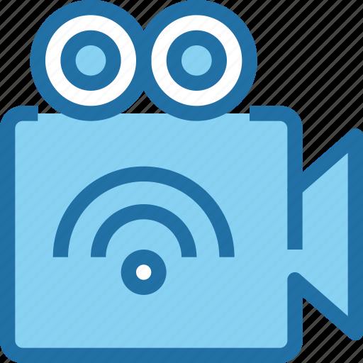 cam, camera, connect, digital, media, video, wifi icon