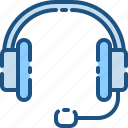 headphone, headset, media, mic, microphone, record, sound icon