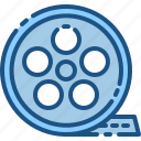 cinema, communication, film, media, movie, roll, video icon