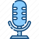 audio, instrument, media, mic, microphone, music, sound icon