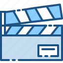 cinema, film, media, movie, production, slate, video icon
