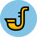 instrument, multimedia, music, saxophone icon