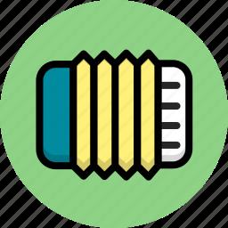 accordion, instrument, multimedia, music icon