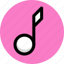 multimedia, music, note, sound icon