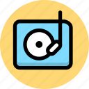 multimedia, music, phonogram, player icon