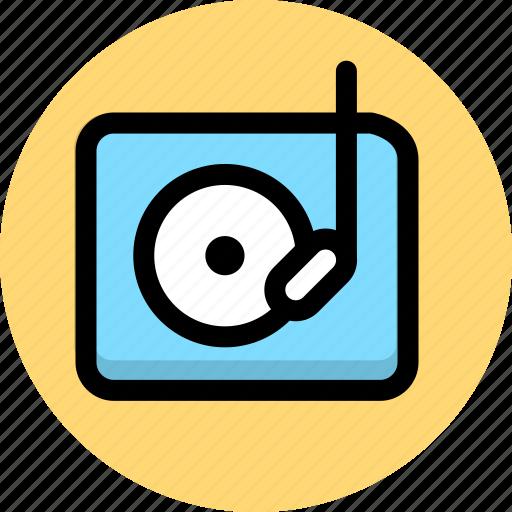 multimedia, music, phonogram, player icon