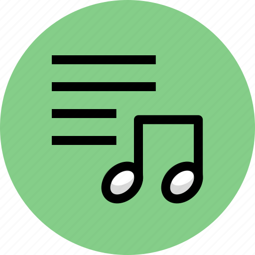 list, multimedia, music, note icon