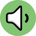 multimedia, sound, volume icon