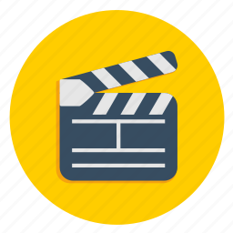 act, acting, cinema, clip, film, multimedia icon