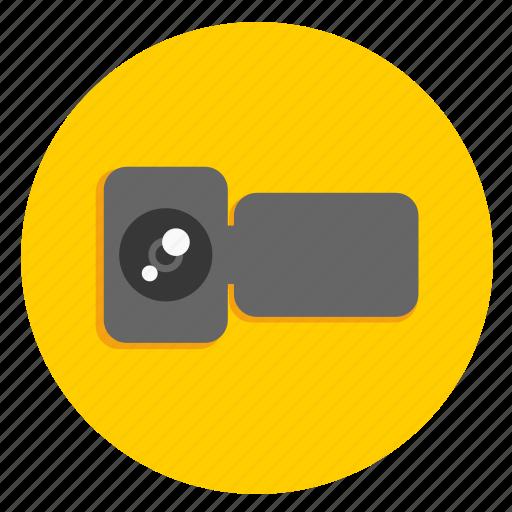 camera, handycam, multimedia, video, video record icon