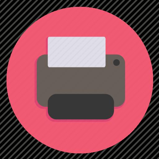 hardware, media, multimedia, print, printer icon
