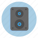 audio, multimedia, music, sound, speaker, speaker box icon