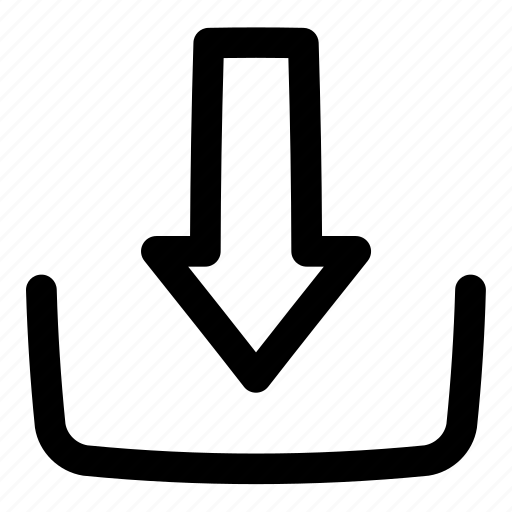 arrow, down, download, multimedia, ui, user interface icon