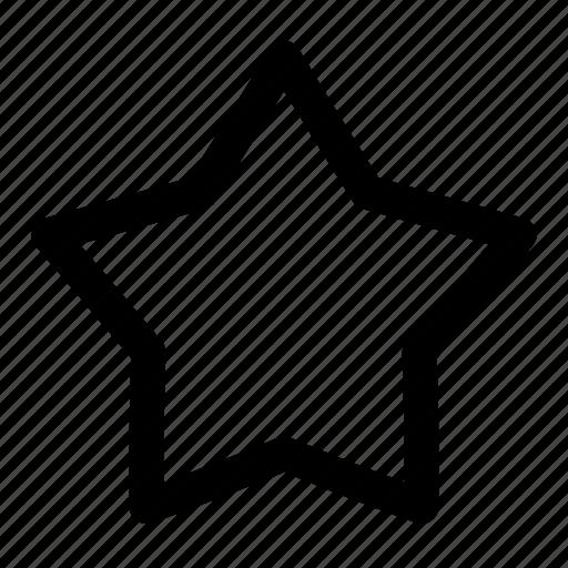bookmark, favorite, multimedia, pin, star, ui, user interface icon
