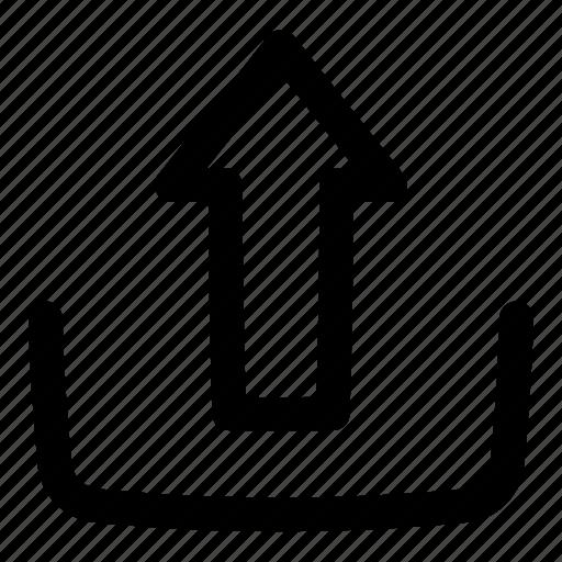 arrow, multimedia, ui, upload, user interface icon