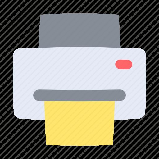 document, multimedia, print, printer, text, ui, user interface icon