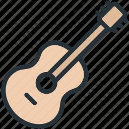 guitar, multimeda icon