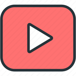 multimeda, play, video icon
