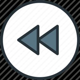 backward, fast, multimeda icon