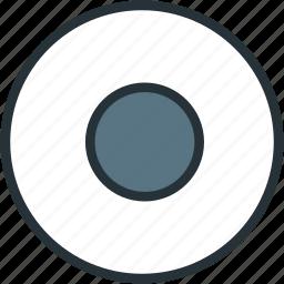 begin, multimeda, stop icon