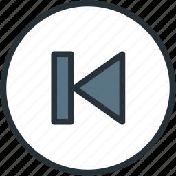 back, multimeda, previous icon