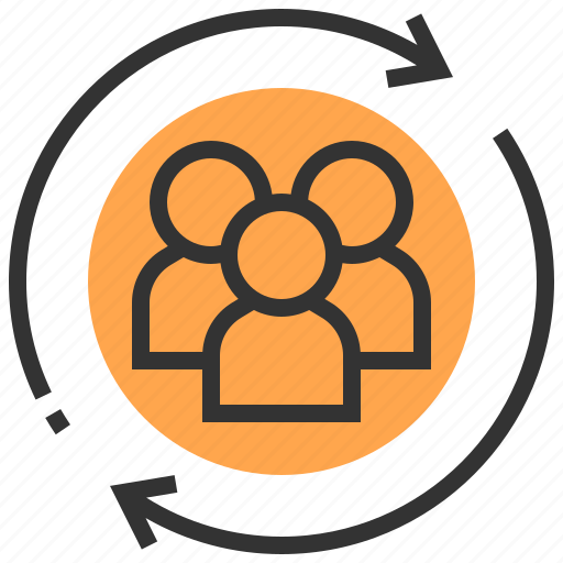 communication, interaction, multimedia, network, team, teamwork, technology icon