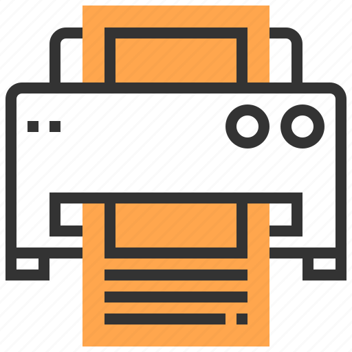 communication, fax, media, multimedia, printer, technology icon