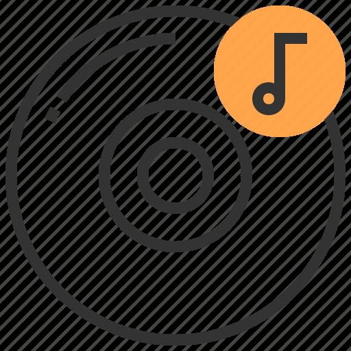 cd, communication, disk, multimedia, sound, technology icon