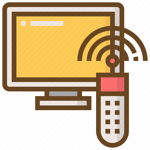 communication, interaction, media, multimedia, remote, technology, television icon