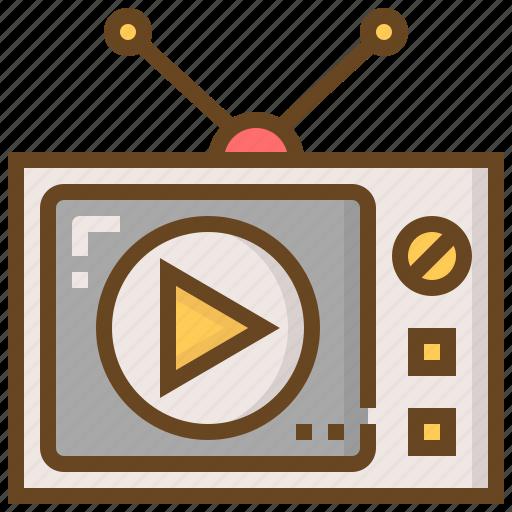 communication, media, multimedia, technology, television, tv, video icon