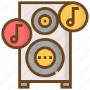 communication, media, multimedia, music, sound, speaker, technology icon