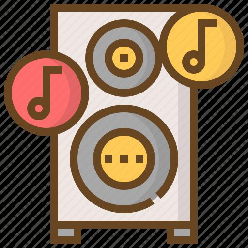 communication, media, multimedia, music, sound, speaker, technology icon
