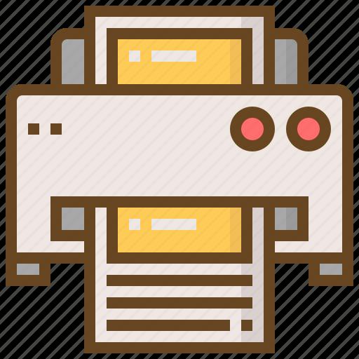 communication, fax, media, message, multimedia, printer, technology icon