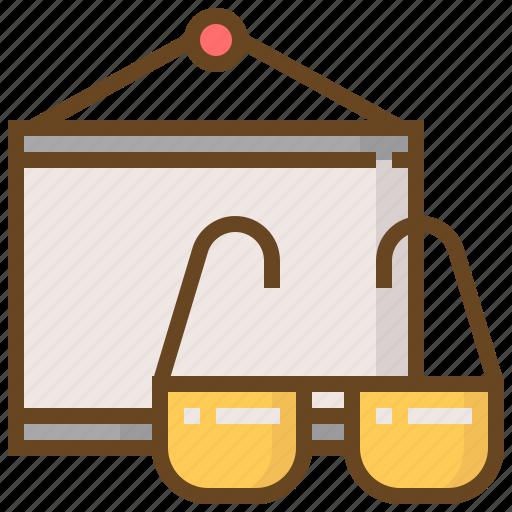 communication, glasses, media, multimedia, present, presentation, technology icon