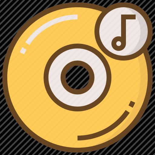 cd, communication, device, media, multimedia, music, technology icon