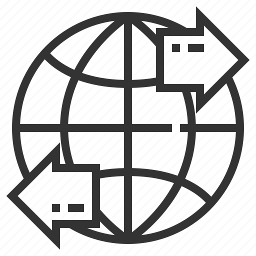 communication, earth, exchange, interaction, multimedia, network, technology icon
