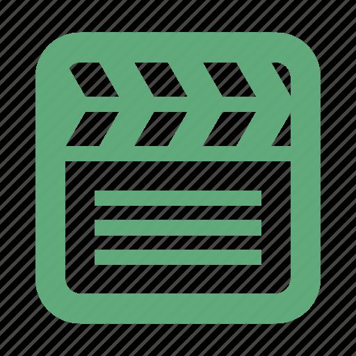 cinema, clapboard, clapper, film icon
