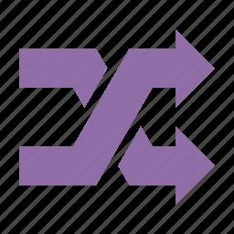 mix, random, shuffle icon