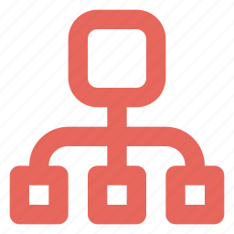 business plan, hierarchy, marketing plan icon