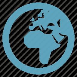 global communications, globe, worldwide icon