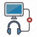 computer, desktop, headphones, monitor, screen, unrecognized icon